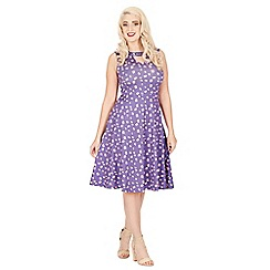 Lindy Bop - Purple jessie poppy day dress