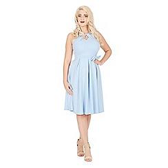 Lindy Bop - Light blue cherel swing dress