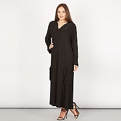 Feverfish - Black tunic pocket detail dress