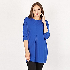 Feverfish - Royal pleat front crepe tunic top