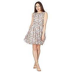 Tenki - Multicolour sleeveless floral skater dress