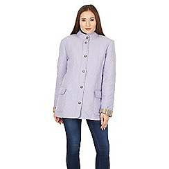 David Barry - Purple collarless popper jacket