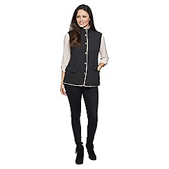 David Barry - Black check lined gilet