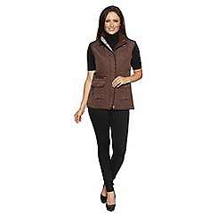 David Barry - Brown ladies gilet