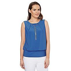 Roman Originals - Blue necklace top