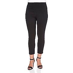 Roman Originals - Black 3/4 length bengaline trousers