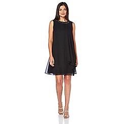 Roman Originals - Black embellished neck dress