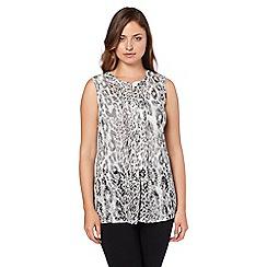 Roman Originals - Grey animal print shirt