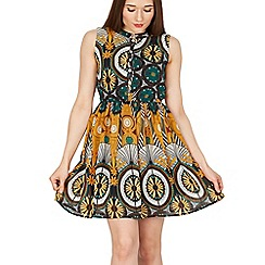 GOLDKID LONDON - Green floral buttons front dress