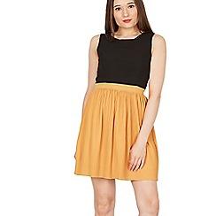 Goldkid - Mustard pleated sleeveless dress