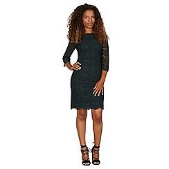 Apricot - Green lace bodycon dress