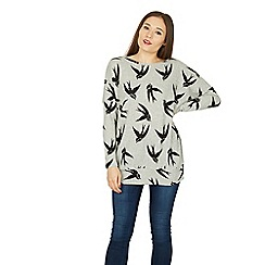 Izabel London - Multicoloured knitted bird print top