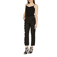 Izabel London - Black frill detail pants