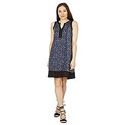 Izabel London - Navy circle print shift dress