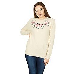 Izabel London - Beige floral pattern jumper