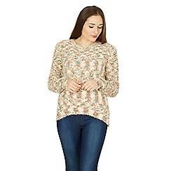 Izabel London - Multicoloured zig zag knitted jumper