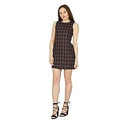 Izabel London - Navy tartan print shift dress
