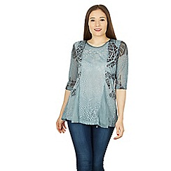Izabel London - Blue textured blouse top