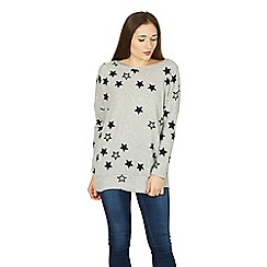 Izabel London - Grey long sleeve star print sweat top