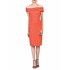 Jolie Moi - Orange lace bonded bardot neck dress