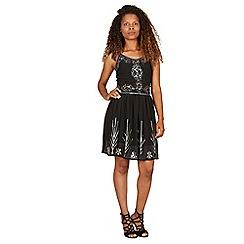 Izabel London - Black embellished sequin detailed dress