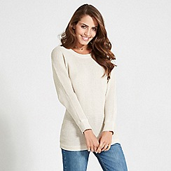 Apricot - Natural button detail batwing jumper