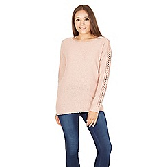 Apricot - Pink textured jumper