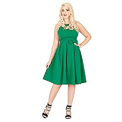 Lindy Bop - Green cherel swing dress