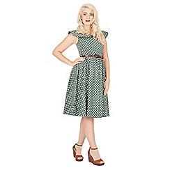 Lindy Bop - Green hetty polka dot swing dress