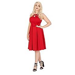 Lindy Bop - Red cherel swing dress