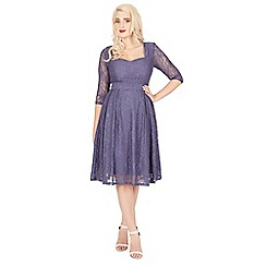 Lindy Bop - Lilac lisette lace party dress