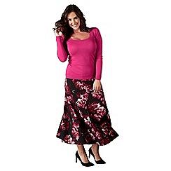 Lavitta - Wine autumn bloom maxi skirt