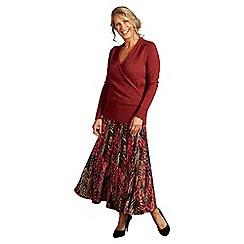 Lavitta - Tan zig zag maxi skirt