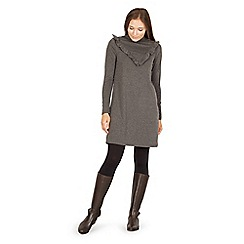 Izabel London - Grey frill detail shift dress