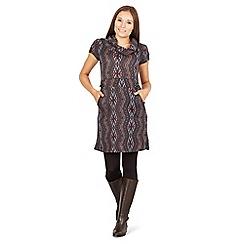 Izabel London - Navy aztec print tunic dress