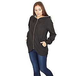 Izabel London - Black long sleeves full front zip jacket