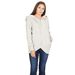 Izabel London - Grey long sleeves full front zip jacket