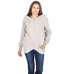 Izabel London - Grey long sleeve full front zip jacket