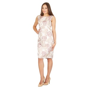 Solo Pink Florence jacquard dress