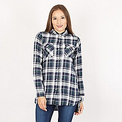 Apricot - Green checked flannel shirt