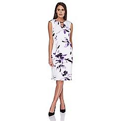 Roman Originals - White leaf print scuba dress