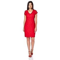 Roman Originals - Red v-neck lace dress
