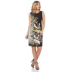 Roman Originals - Black floral print shift dress