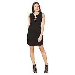 Apricot - Black jersey tunic dress