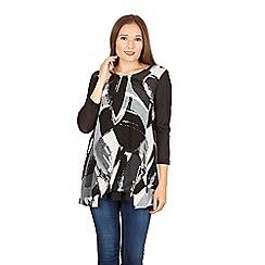Izabel London - Multicoloured graphic print blouse top