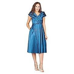 Lindy Bop - Blue amber swing dress