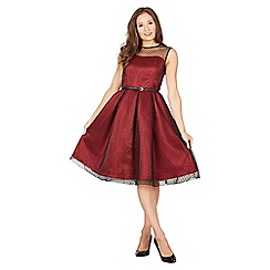 Lindy Bop - Red aleena occasion dress