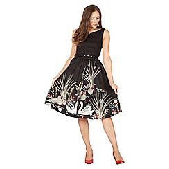 Lindy Bop - Black delta swan swing dress