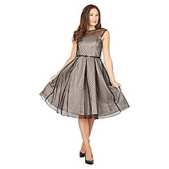 Lindy Bop - Silver aleena occasion dress