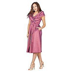 Lindy Bop - Light purple amber occasion swing dress